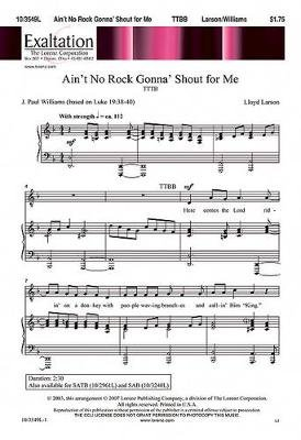 Ain't No Rock Gonna' Shout for Me (Paperback): J. Paul Williams