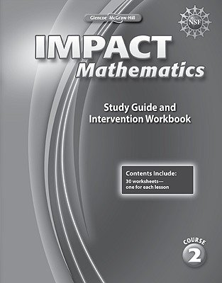 Impact Mathematics, Course 2, Study Guide and Intervention Workbook (Paperback): McGraw-Hill Education