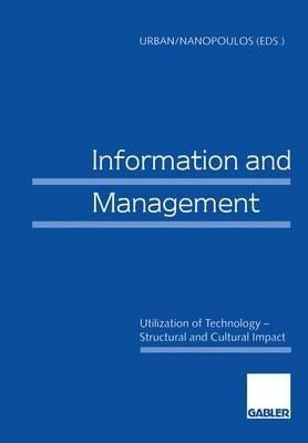 Information and Management (in Englischer Sprache) (German, Book, 1998): Sabine Urban, Constatin Nanopoulos
