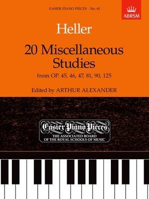 20 Miscellaneous Studies from Op.45, 46, 47, 81, 90 & 125 - Easier Piano Pieces 40 (Sheet music): Stephen Heller