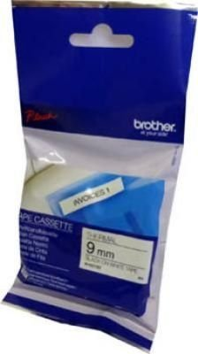 Brother M-K221B P-Touch Non-Laminated Tape (Black on White)(9mmx8m):