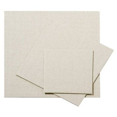 Pebeo Set of 3 10 x 10cm Natural Linen Canvas Board Clear Primed: