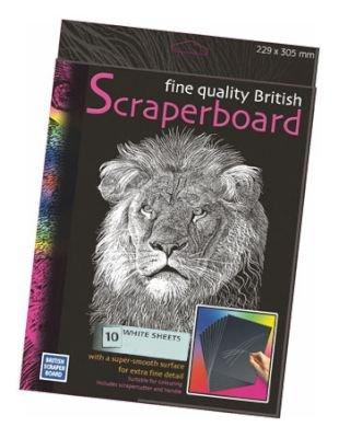 Essdee Scraperboard - White (305x229mm)(10 Sheets):
