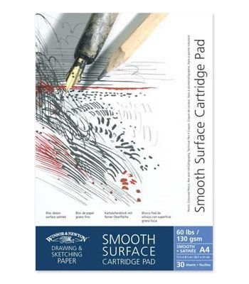 Winsor & Newton Cartridge Gummed Pad - Smooth Surface(A5)(25 Sheets)(220gsm):