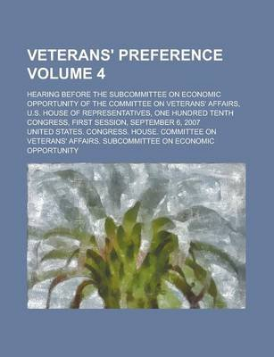 Veterans' Preference; Hearing Before the Subcommittee on Economic Opportunity of the Committee on Veterans' Affairs,...