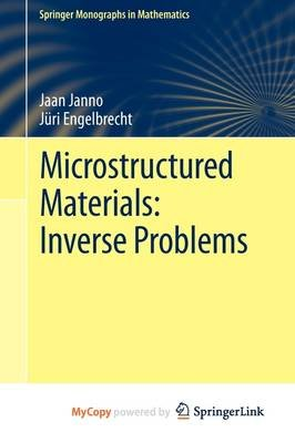 Microstructured Materials - Inverse Problems (Paperback):