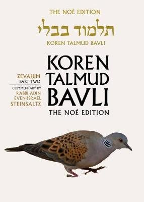 Koren Talmud Bavli, v. 34 - Zevahim Part 2, English (Hardcover, Noy ed): Adin Steinsaltz