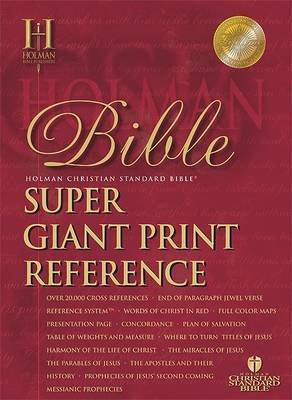 Super Giant Print Reference Bible-HCSB (Large print, Leather / fine binding, large type edition): Broadman & Holman Publishers