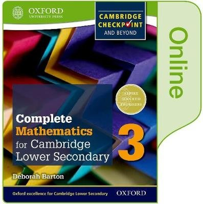 Complete Mathematics for Cambridge Lower Secondary Book 3 - Print and Online Student Book (Online resource): Deborah Barton