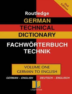 German Technical Dictionary (Volume 1) (Hardcover, 2nd New edition): Robert Dimand