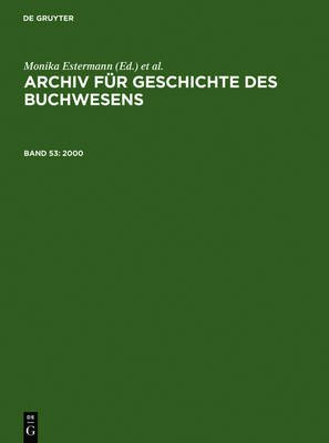 2000 (German, Electronic book text): Historische Kommission Des Borsenvereins