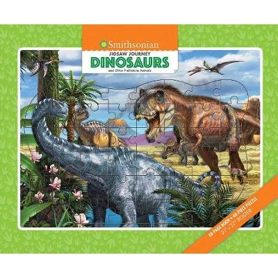 Jigsaw Journey Smithsonian: Dinosaurs & Other Prehistoric Animals (Paperback): Franco Tempesta
