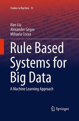 Rule Based Systems for Big Data - A Machine Learning Approach (Paperback, Softcover reprint of the original 1st ed. 2016): Han...