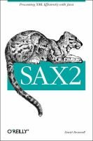 SAX2 - Processing XML Efficiently with Java (Paperback, 1st ed): David Brownell