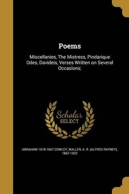 Poems (Paperback): Abraham 1618-1667 Cowley