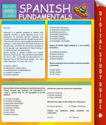 Spanish Fundamentals 1 (Speedy Study Guides) (Spanish, Electronic book text): Speedy Publishing