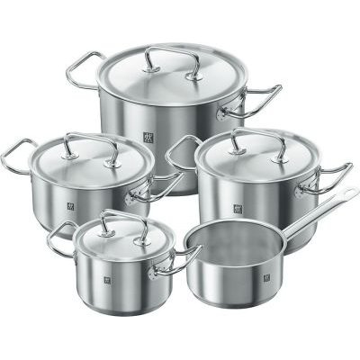 Zwilling Twin Classic Cookware Set (9 Pieces) (Silver):