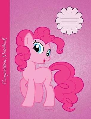 Pink Pony Composition Notebook - Graph Paper Book to Write in for School, Take Notes, for Girls and Women, Cute Cartoon Style...