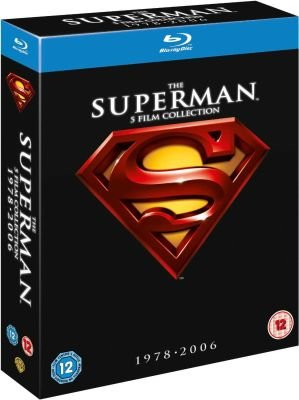 The Superman 5-Film Collection - 1978 - 2006 (Blu-ray disc, Boxed set): Christopher Reeve, Gene Hackman, Brandon Routh, Kevin...