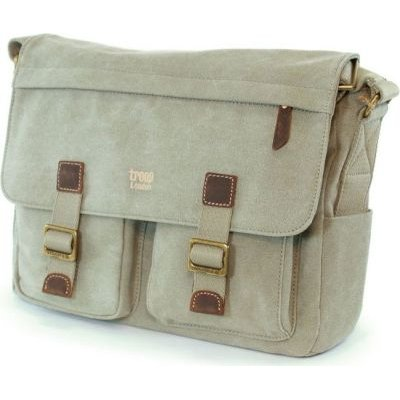 Tuff-Luv Troop Heritage Cross-Body Canvas Messenger Bag (Khaki):