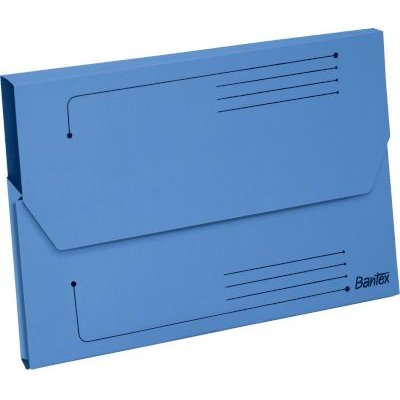 Bantex Smart Folder ? Document Wallet (A4)(250gsm)(Pack of 10)(Blue):