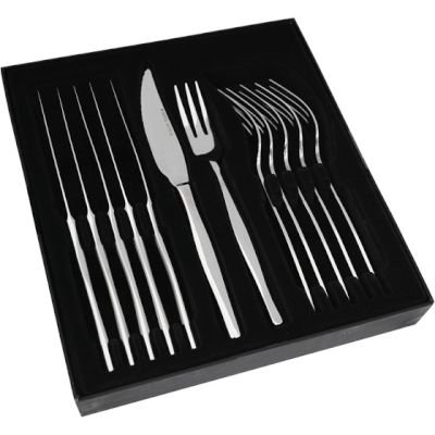 Eetrite Slimline Boxed Steak Knife and Fork Set (12 Piece):