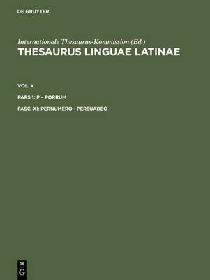 Pernumero - Persuadeo (Latin, Electronic book text): Internationale Thesaurus-Kommission