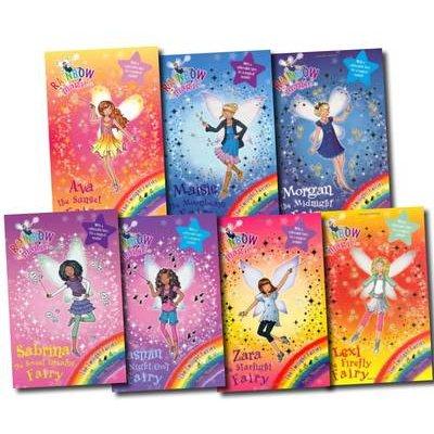 Rainbow Magic Twilight Fairies Collection Set - Ava the Sunset Fairy, Lexi the Firefly Fairy, Zara the Starlight Fairy, Morgan...