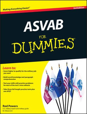 ASVAB For Dummies (Paperback, 3rd Revised edition): Rod Powers