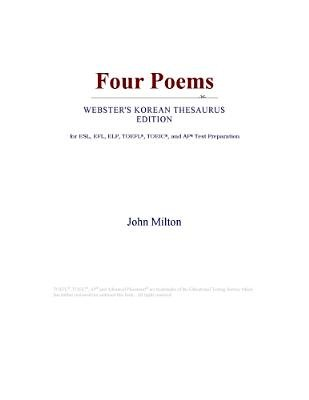 Four Poems (Webster's Korean Thesaurus Edition) (Electronic book text): Inc. Icon Group International