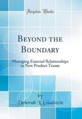 Beyond the Boundary - Managing External Relationships in New Product Teams (Classic Reprint) (Hardcover): Deborah L Gladstein