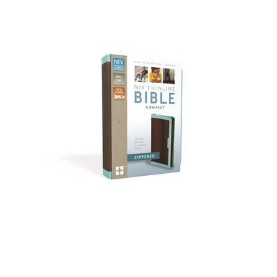 NIV, Thinline Zippered Collection Bible, Compact, Imitation Leather, Pink/Orange, Red Letter Edition (Leather / fine binding,...