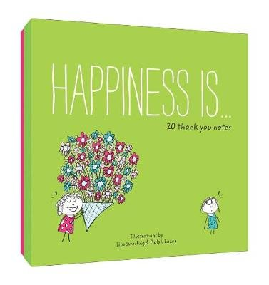 Happiness Is... 20 Thank You Notes (Notebook / blank book): Lisa Swerling