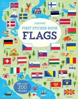 First Sticker Book Flags (Paperback, New Edition): Holly Bathie