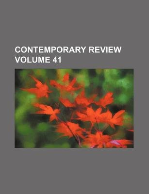 Contemporary Review Volume 41 (Paperback): Books Group