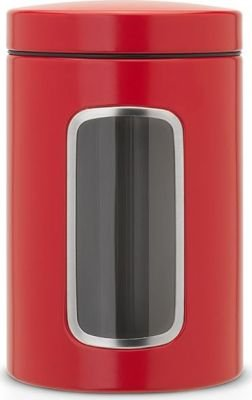 Brabantia Window Canister (1.4 Litre) (Passion Red):