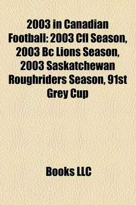 2003 In Canadian Football