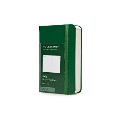 2014 Moleskine Extra Small Oxide Green Daily Diary 12 Month (Diary): Moleskine