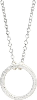 ZA Dainty Silver Circle Necklace: