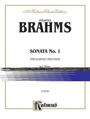 Sonata No. 1 in F Minor, Op. 120 - Part(s) (Paperback): Johannes Brahms