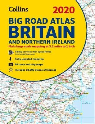 2020 Collins Big Road Atlas Britain and Northern Ireland (Paperback, New edition): Collins Maps