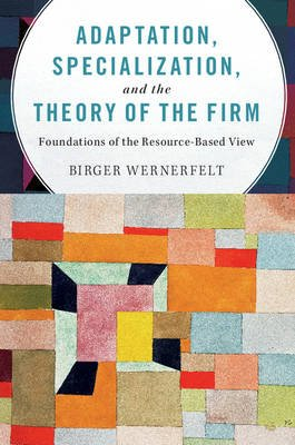 Adaptation, Specialization, and the Theory of the Firm - Foundations of the Resource-Based View (Paperback): Birger Wernerfelt