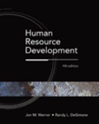 Human Resource Development (Hardcover, 4th Revised edition): Werner, Randy De Simone