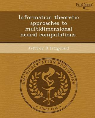 Information Theoretic Approaches to Multidimensional Neural Computations (Paperback): Jeffrey D Fitzgerald