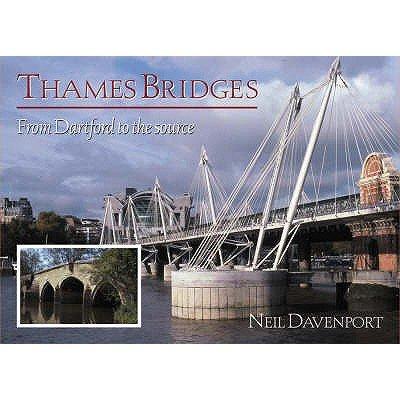 Thames Bridges Then and Now (Paperback): Neil Davenport
