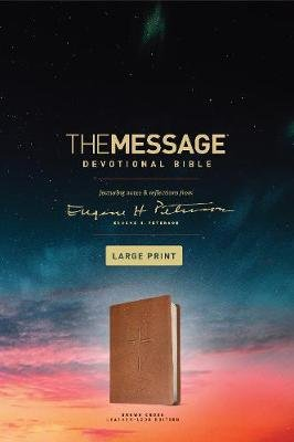 Message Devotional Bible Large Print Brown, The (Large print, Leather / fine binding, Large type / large print edition): Eugene...