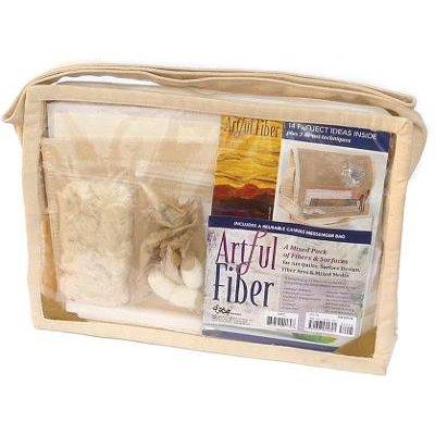 Artful Fiber - A Mixed Pack of Fibers & Surfaces for Art Quilts, Surface Design, Fiber Arts & Mixed-Media: Various