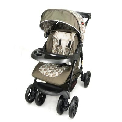 Chelino Coyote 3 Position Travel System With Car Seat - Brown Circles: