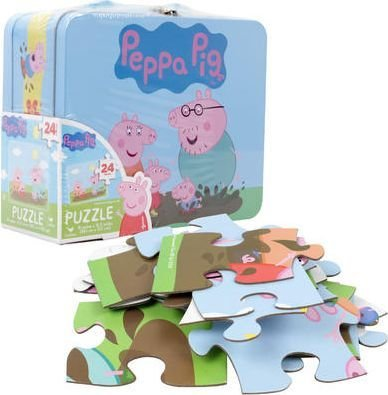 Peppa Pig Puzzle In Lunchbox Tin (24 Pieces):
