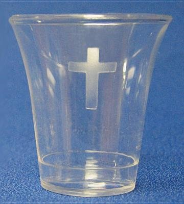 Swanson Communion Cups Clear with Cross 1 3/8 500 CT: Swanson Christian Products